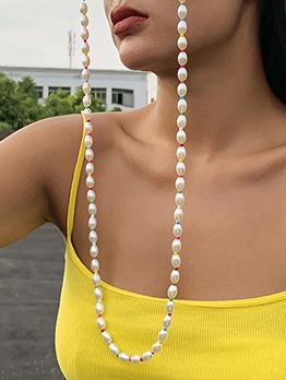 Chic Colored Faux-Pearl Sunglasses Accessories