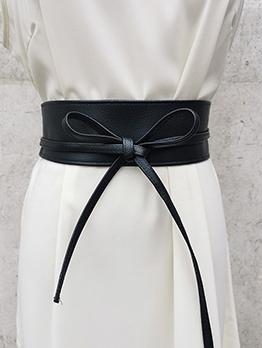 New Arrival Plain Black Tie-Wrap Clothing Accessories