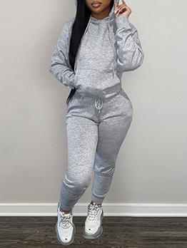 Winter Sporty Pocket Hoodies 2 Piece Pant Sets