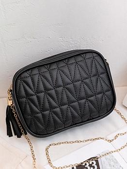 Japanese Street Tassel Zipper Chain Shoulder Bag
