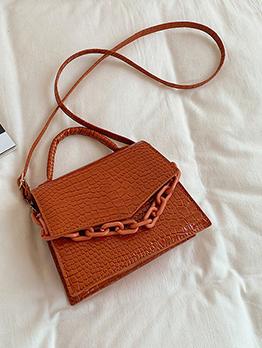 Alligator Print Vintage Hasp Shoulder Bag Handbag