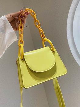 Chic Patchwork Solid Shoulder Bag For Women