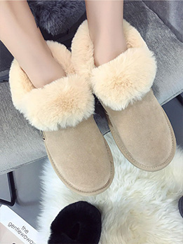 Flat Soles Students Winter Snow Boots