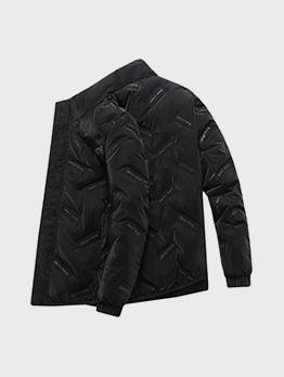 Winter Letter Long Sleeve Puffer Jacket