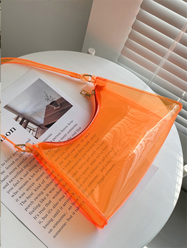 Fashion Pure Transparent Armpits Bag For Girls