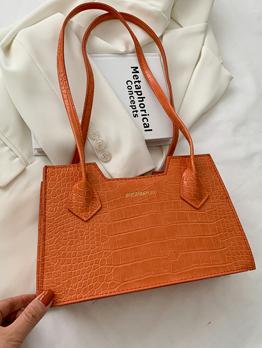 Simple Letter High Capacity Spring Summer Shoulder Bags