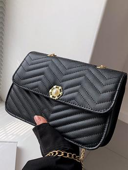 Fashion Hasp Chain Shoulder Bag For Women