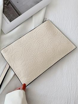 Casual Rose Solid Handbag For Women