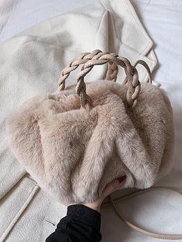 New Arrival Winter Plush Solid Shoulder Bag