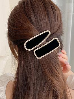 Korean Style Faux-Pearl Rhinestone Water Drop Hairpin
