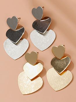 Multiple Heart Hot Sale Solid Metal Earrings