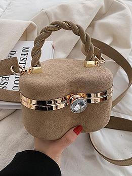 Heart Shape Rhinestone Shoulder Handbag For Women