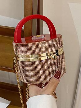 Elegant Chic Rhinestone Chain Handbag Ladies Party Bag