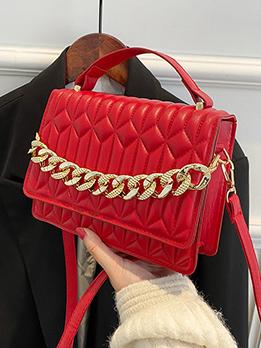 New Arrival Geometric Chain Black Shoulder Bag