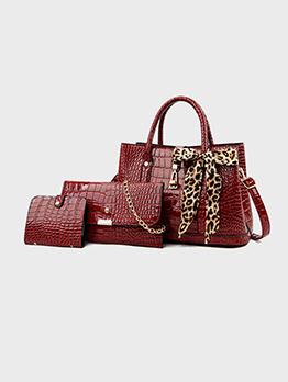 Leopard Chain 3 Piece Bags Set