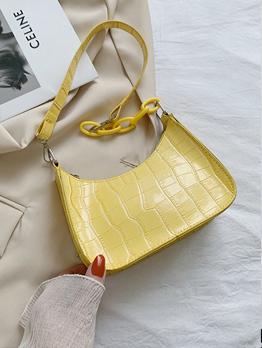 Summer Stone Print Vintage Shoulder Bag For Women