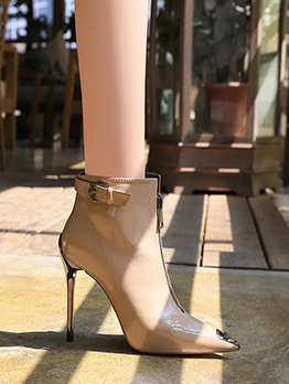 Sexy Nightclub Pointed Toe Stiletto Heels Boots