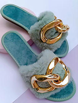 Autumn Chain Patchwork Comfy House Slippers