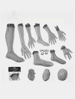 Halloween Severed Hand Foot Heart Brain Venue Props