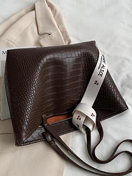 Shopping Travel Alligator Print  Tote Bag For Women