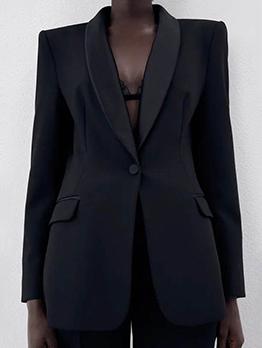 Fitted Comfy Formal Black Blazer Coat