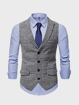 Fashion Contrast Color Camisole Short Coat Men