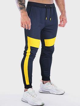 Contrast Color Drawstring Jogger Long Pants