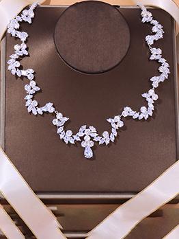 Fashion Full Rhinestone Necklace Accessories