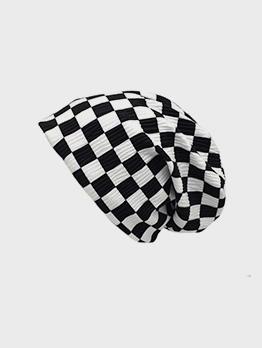 Checkerboard Plaid Design Stylish Beanie