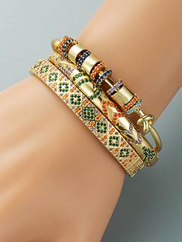 Gorgeous Colored Geometry Hip Hot Bracelet