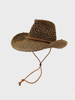 Western Cowboy Handmade Sun-Prof Straw Hat