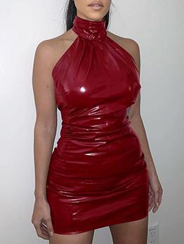 Nightclub Sexy Backless Halter Bodycon Dress