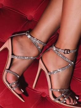 Sexy Rhinestone Point Toe Ladies Sandal