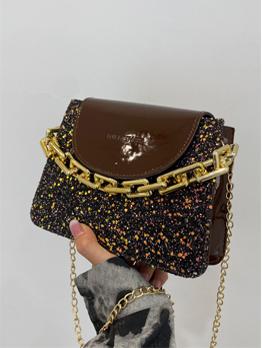 Euro Vintage Sequined Chain Shoulder Bag For Ladies
