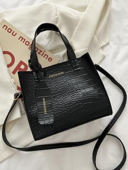 Japanese Street Alligator Printed Shoulder Handbag For Women