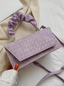 Korean Street Solid Ruched Shoulder Handbag