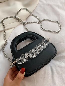 Adorable Zipper Chain Shoulder Handbag For Women