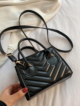 Casual Pure Color Zipper Up Shoulder Handbag