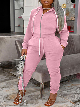 Plus Size Hooded Long Sleeve Exercise Clothes