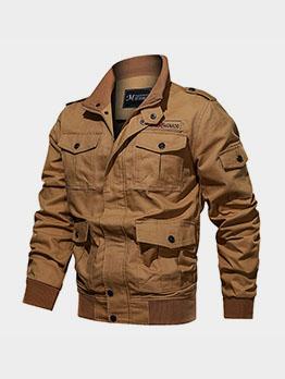 Outdoor Pocket Loose Long Sleeve Cargo Jacket