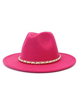 Versatile Solid Color Woolen Jazz Hat