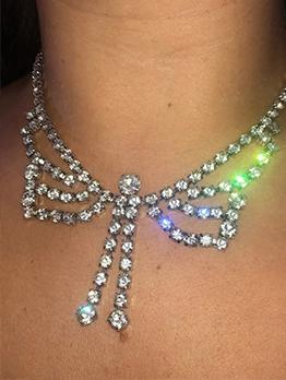 Eye-Catching Bow Rhinestone Women Necklaces