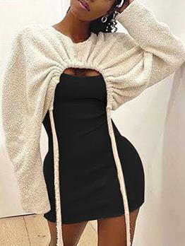Winter Contrast Color 2 Piece Dress Set