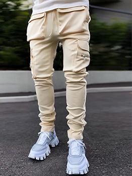 Fashion Solid Pocket Active Long Pants
