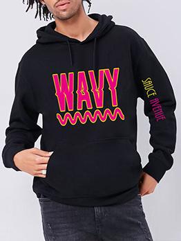 Letter Youthful Winter Easy Match Men Sweatshirts