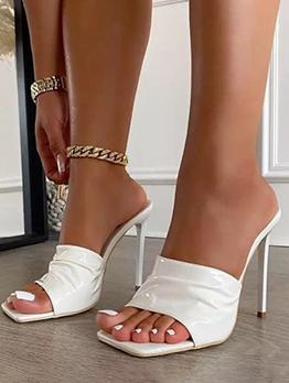 Korean Style Casual Super High Heel Slippers
