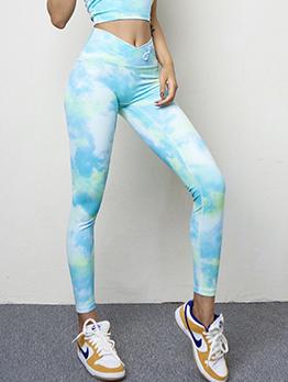 Yoga Tie Dye High Waist Leggings For Women