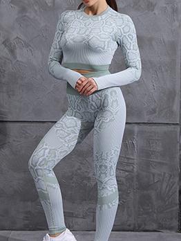 Popular Long Sleeve Knitting Yoga Clothes