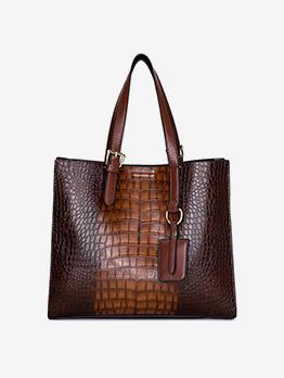 Alligator Print  Large Capacity Tote Bag For Women