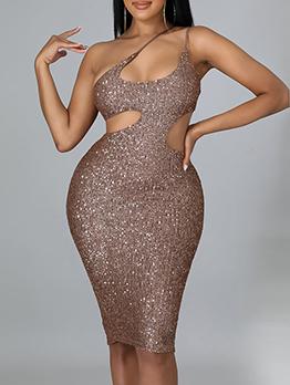 Sequined Sexy Nightclub Bodycon Dresses